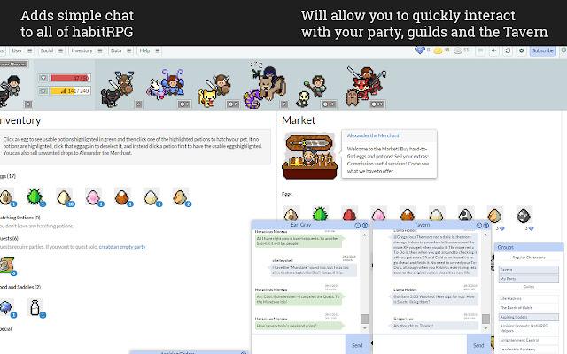Habitica Chat Client
