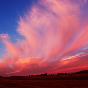 Cotton Candy Sunset Sky by Linda Othersen - Landscapes Weather