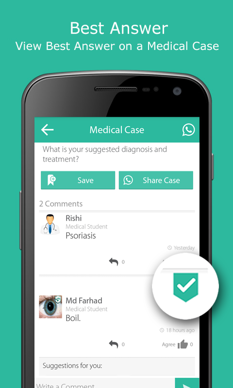 Buzz4health - Clinical Cases- screenshot