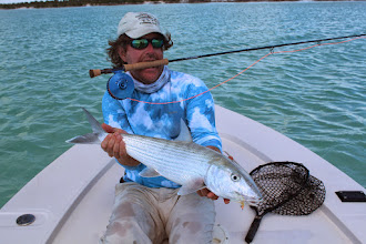Photo: Brian Flechsig with a beauty on the Andros Island Bonefish Trip- Spring 2013