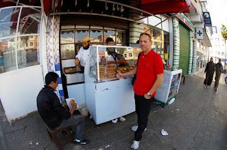 Photo: Achat sandwich dinde à 7 Dirhams (- de 0,70€ environ)