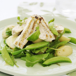 Chicken with Sugar Snap Peas and Potato Salad