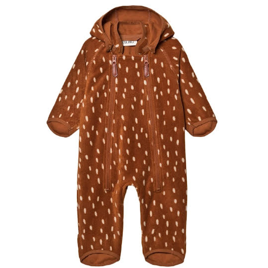 KULING Livigno Wind Fleece Overall Brown Dots