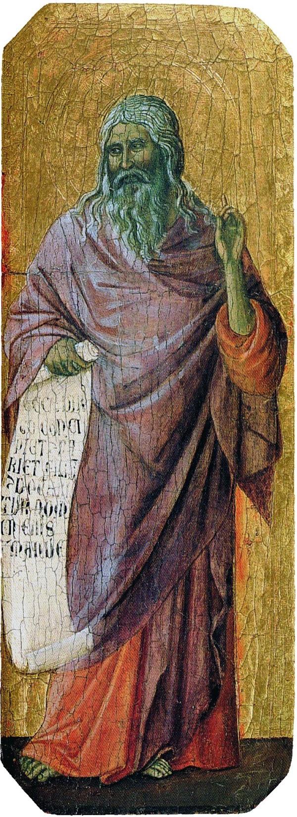 Duccio di Buoninsegna, Predella della Maestà, Isaia