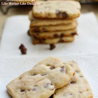 Chocolate Chip Shortbread Cookies.