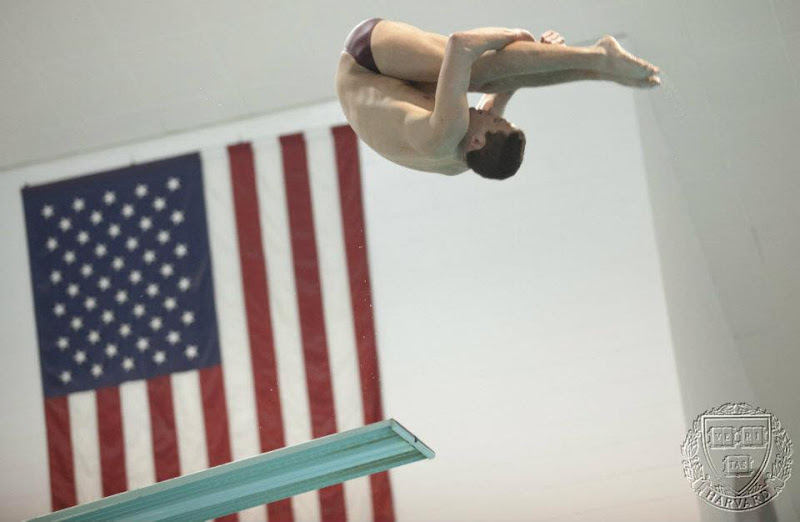 Photo: Harvard diver is going to Olympic trials in June in the hopes of qualifying for the games this summer in London. Here he is seen practicing at the Blodgett Pool.   Kris Snibbe Harvard Staff Photographer