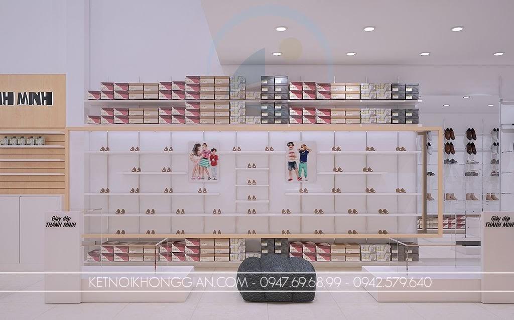 thiết kế shop giày dép đẹp mắt