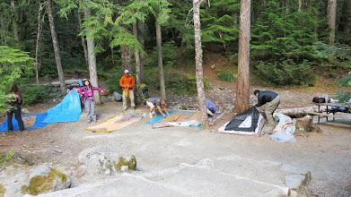 Photo: Arrived Mt. Rainier National Park Camp site.