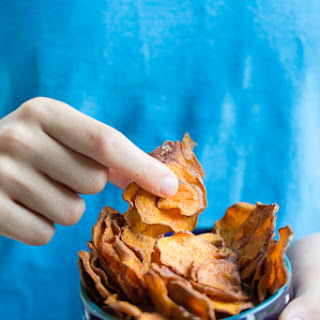 Healthy Sweet Potato homemade chips.