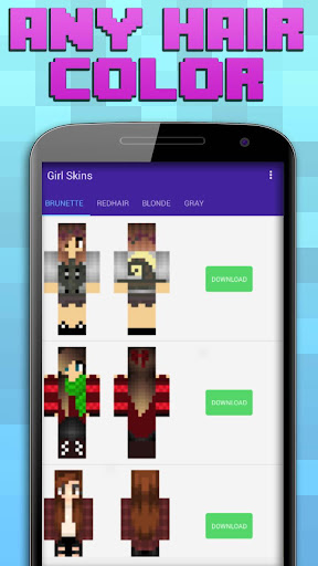 Girl Skins For Minecraft Screenshot