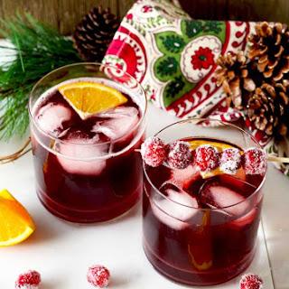 Cranberry Maple Bourbon Cocktail.