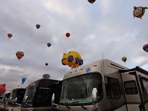 Photo: balloons come close