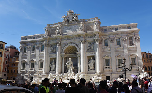 Trevi-fountain2-2.jpg - Trevi Fountain, a frequent tourist spot, is an example of Baroque architecture. It opened in 1762.