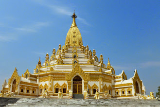 Photo: The Shwedagon Pagoda, one of the landmarks of Myanmar, is re-gilded every ten years.  There is more than three billion dollars worth of gold on and in this pagoda.