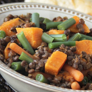 Slow Cooker Curried Sweet Potato and Lentil Stew.