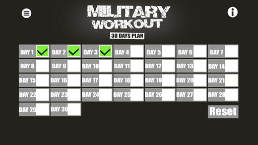 Military Workout screenshot 1