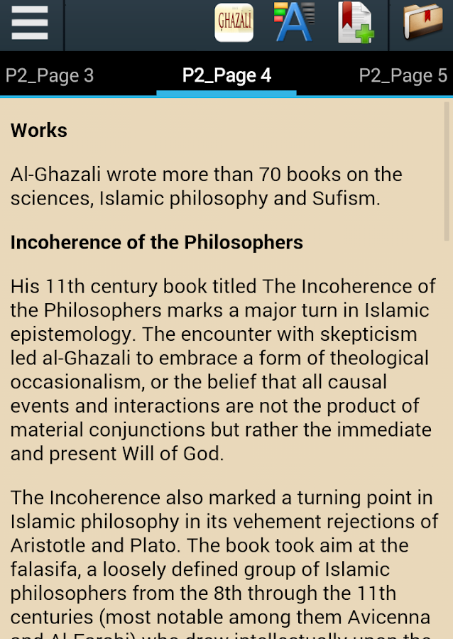 al ghazl causality and knowledge essay