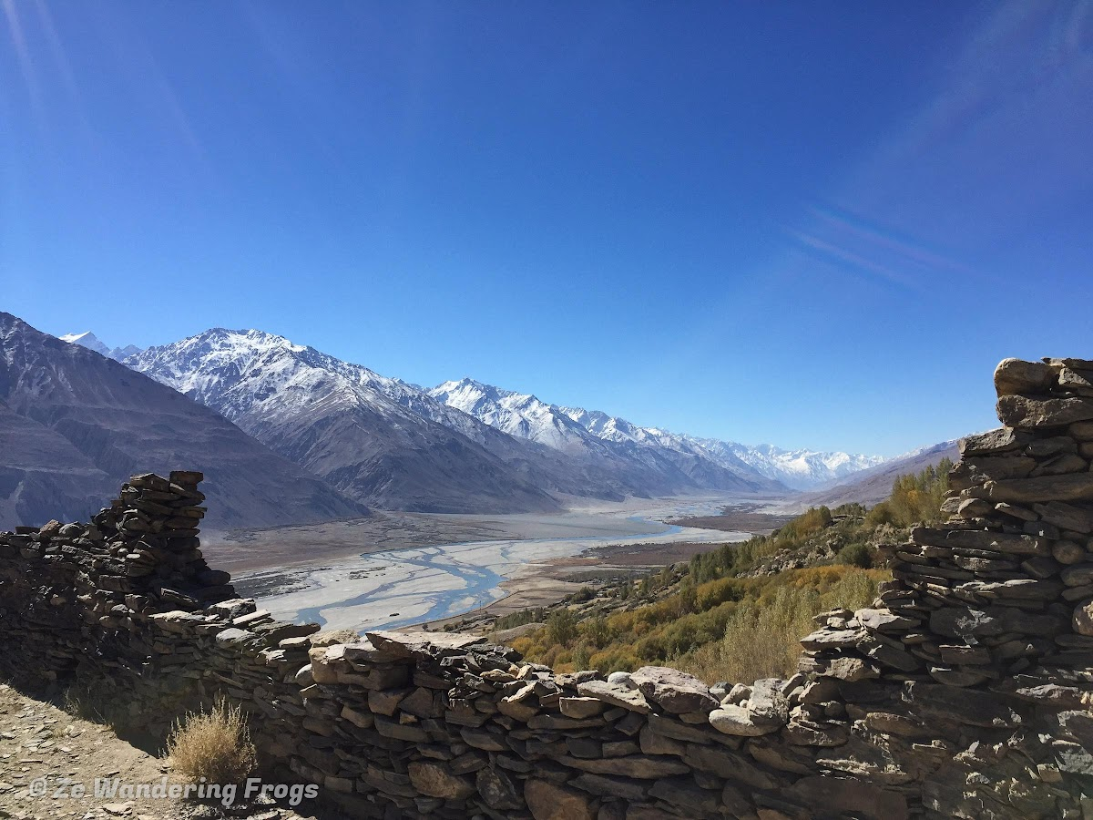 Travel to Tajikistan Pamir Highway and Wakhan Corridor // Wakhan Corridor from the Yamchun Fortress