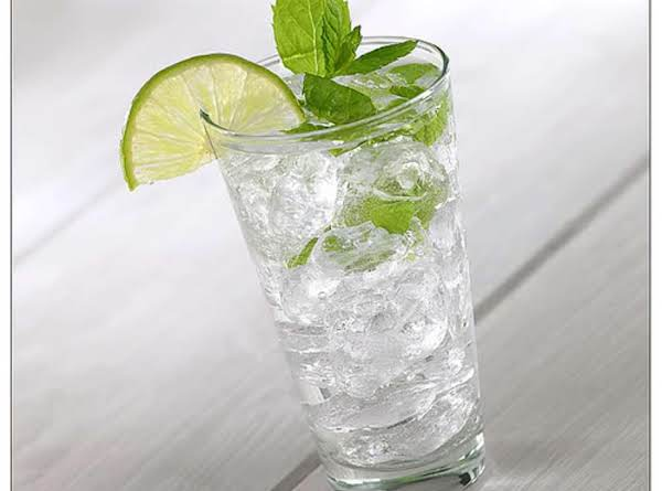 Refreshing Alcoholic Drink,lemony With A Touch Of Fresh Mint..excellent Cocktail !
