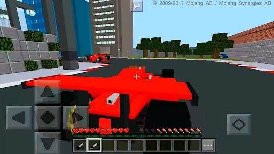 BlockGears Minecraft PE Racing Map - náhled