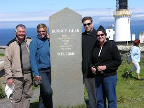 Photo: Dunnet Head: Greg, Suzanne, Scott and Jeanette