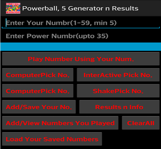 Powerball 5 Generator Result