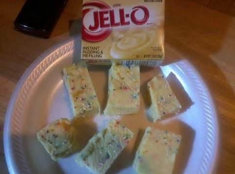 White Chocolate Fudge Bites