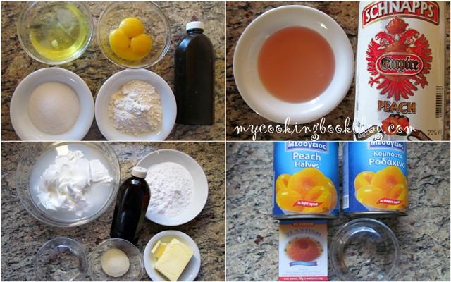 Желирана торта (парфе) с кисело мляко и праскови от компот