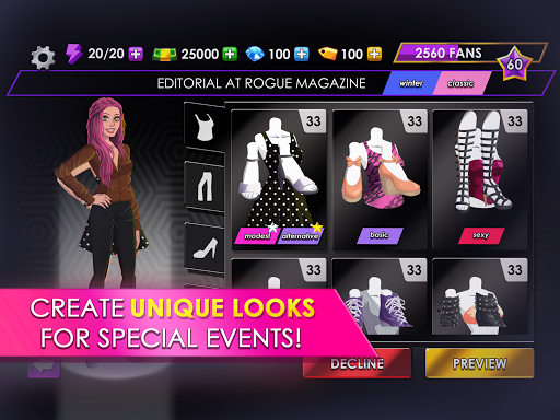 Fashion Fever - Dress Up, Styling and Supermodels 1.2.1 screenshots 8
