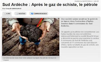 Photo: 02/07/11...Le pétrole en sud Ardèche...Article et Vidéo.  http://rhone-alpes.france3.fr/info/sud-ardeche--apres-le-gaz-de-schiste-le-petrole--69493665.html