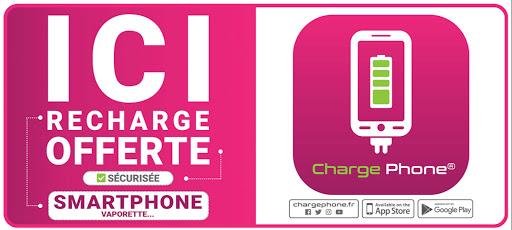 SIGNALETIQUE DE VITRINE CHARGE PHONE