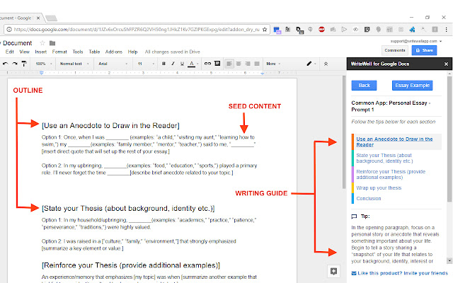 WriteWell For Google Docs