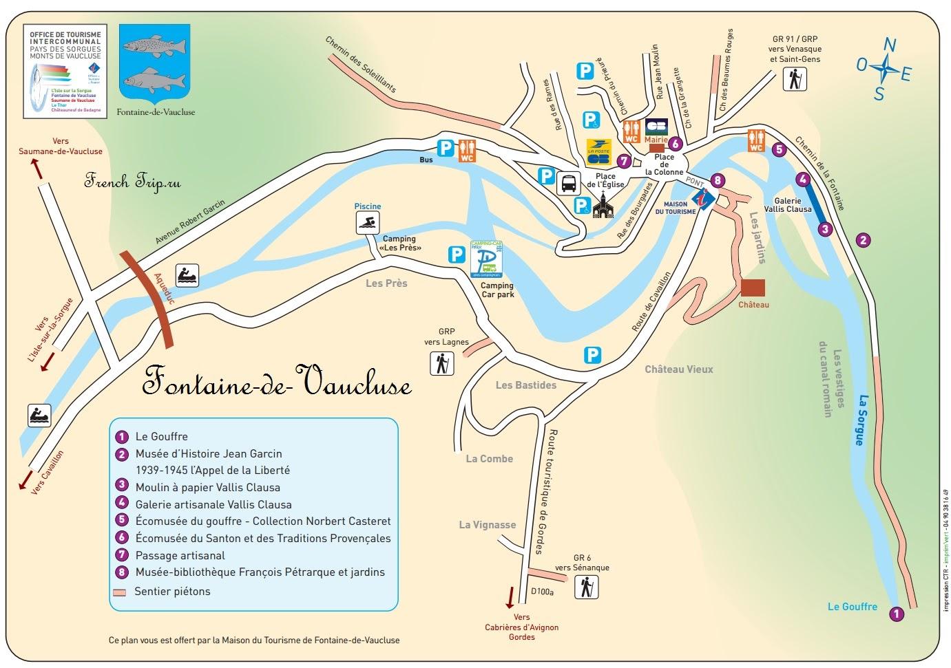 Карта Fontaine-de-Vaucluse
