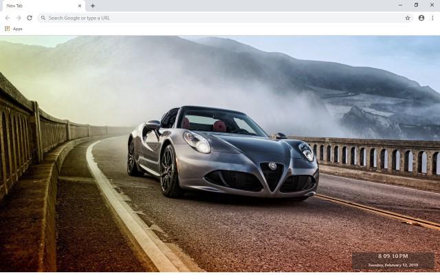 Alfa Romeo 4C Spider New Tab Theme