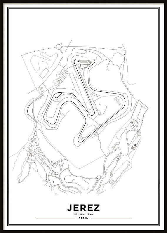 Poster, Circuito de Jerez White