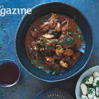 Beef Goulash With Gnocchi And Soured Cream.