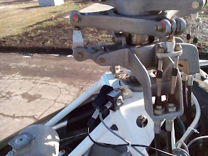Photo: Accelerometer and tachometer mounted below A600 rotor head