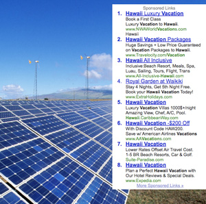 Solar panels, wind turbines, Google AdSense