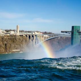 NiagaraFalls, waterfall,NewYork,Canada by Gayle M McDermott - City,  Street & Park  Vistas