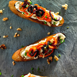 Whole Wheat Crostini with Whipped Gorgonzola Recipe
