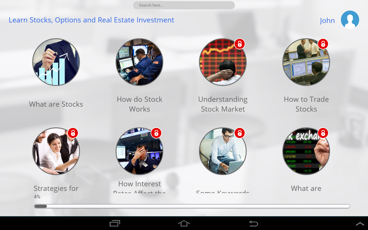 Stock options app android