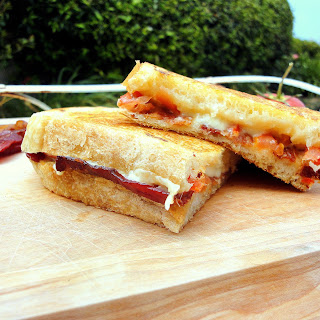 Bacon, Tomato, & Roasted Garlic Grilled Cheese