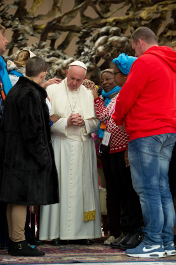 Pope with socially excluded
