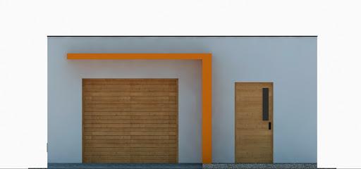 G355 - Budynek garażowo-gospodarczy - Elewacja przednia