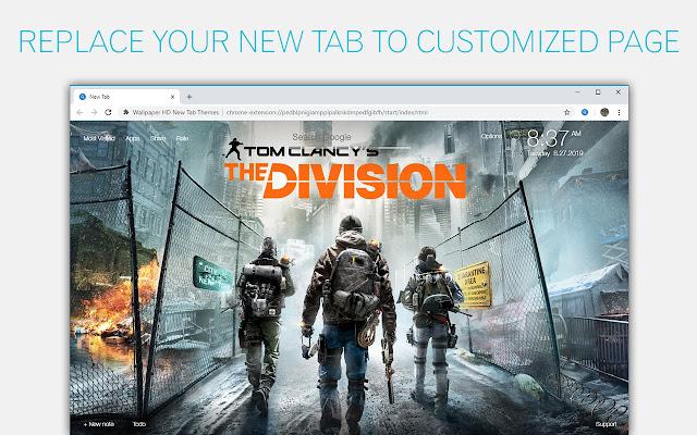 The Division Wallpaper NewTab - freeaddon.com