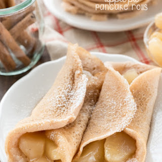 Apple Pie Pancake Rolls