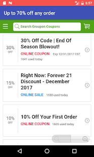 Coupons for Forever 21 - náhled