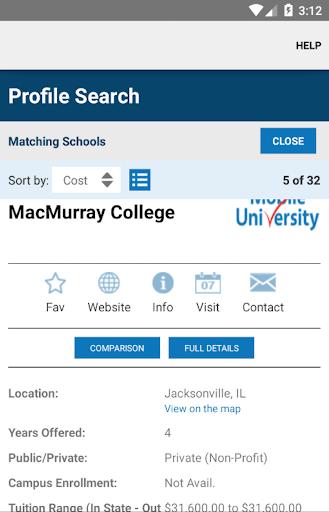 移動學院大學專業搜索