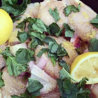 Slow Cooker Lemon Basil Chicken.