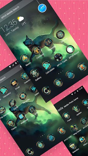 Viverridae-APUS Launcher theme - screenshot